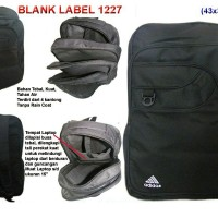 tas ransel laptop blank label 1227 hitam