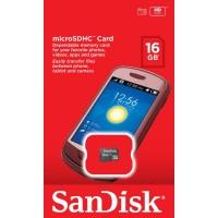 Memory Card MicroSD Sandisk 16GB Class 4(Garansi resmi 5 tahun!!!)
