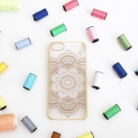 Casing HP Unik Blooming Gold Iphone 4/4s//5/5s/6