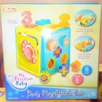EDUGAMES REDBOX BUSY PLAY PUZZLE BOX - MAINAN EDUKASI BAYI BALITA