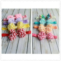 Sequoia Chevron Chiffon Bow