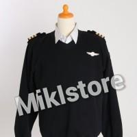 Sweater Pilot Full Atribut (termasuk Wings+Bar)