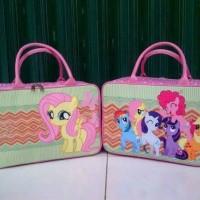 Travel Bag Kanvas Berkarakter Kuda Poony ( Free Ongkir )