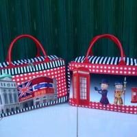 Travel Bag Kanvas Berkarakter London Piicadelly Free Ongkir