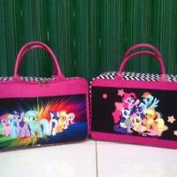 Travel Bag Kanvas Berkarakter Kuda Ponny Salur Pink ( Free Ongkir )