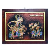 harga Souvenir Jogja Lukisan Rilief 3D Timbul Wayang Pendawa Lima 44x33cm Tokopedia.com