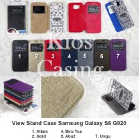 Samsung Galaxy S6 G920 - Flip Cover View Stand Case Casing Sarung