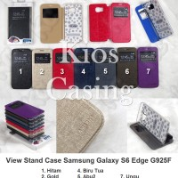 Samsung Galaxy S6 Edge G925f - Flip Cover View Stand Case Sarung