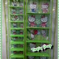 Paket Hboz Hsoz Triplek Hello Kitty (Rak tas dan Rak Sepatu)
