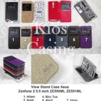 Asus Zenfone 2 5.5 Inch Ze550ml Ze551ml - Flip Cover View Stand Case