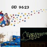 Jual Wall Stiker Glow In The Dark Uk.60x90 Doraemon Sapu Terbang Murah