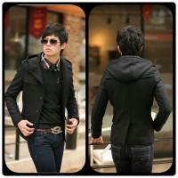 harga Jaket Jas Blazer Pria Korea Winter Young Black Tokopedia.com