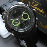 Jam Tangan Lasebo LSB-8021 OriginaL (Black Green)
