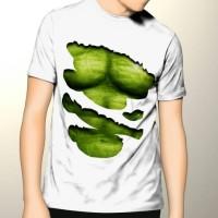 harga Kaos 3d Sixpack Hulk Putih Robek Tokopedia.com