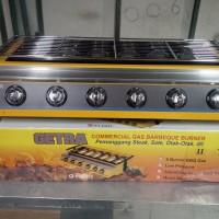 harga Panggangan Gas Tanpa Asap Et-k2333 Merk Getra 6 Tungku Tokopedia.com