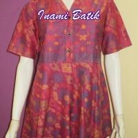 Blouse Batik Wanita Kerja / Blus Batik Model Peplum (kode Peplum 2)