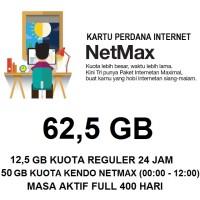Kartu Paket Perdana Internet 3 Three Tri NETMAX Kuota 62,5 Gb Murah