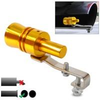 Gold Exhaust Fake Turbo Whistler Pipe Sound Muffler Size L Golden