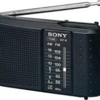 Sony ICF-8 - Portable AM/FM Radio - Hitam