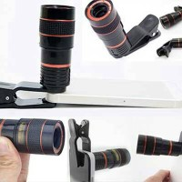 harga Telezoom Lens Clip Lensa Jepit 8 X Zoom Optical Mobile Phone Telescope Tokopedia.com
