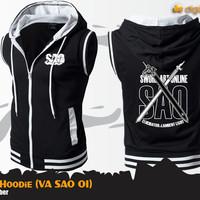 Rompi Hoodie Sword Art Online Kirito (Vest Anime SAO)