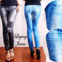 legging jeans motif  (fit to xxl)