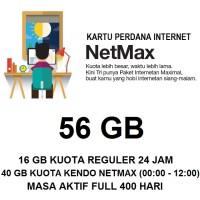 Kartu Paket Perdana Internet 3 Three Tri NETMAX Kuota 56Gb 56 Gb Murah