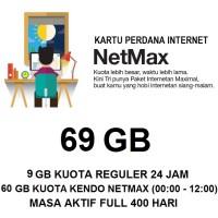 Kartu Paket Perdana Internet 3 Three Tri NETMAX Kuota 69Gb 69 Gb Murah