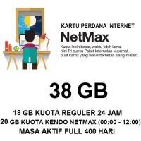 Kartu Paket Perdana Internet 3 Three Tri NETMAX Kuota 38Gb 38 Gb Murah
