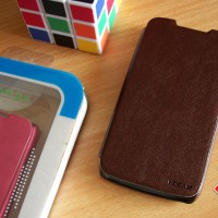Lenovo A390 HOCAR Slim Leather Flip Case Flipcase Cover Flipcover