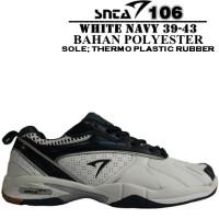 Sepatu Badminton SNTA 106 White Navy (PROMO BUY 1 GET 1)