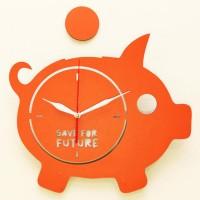 Jam Dinding Unik Artistik - Piggy Bank