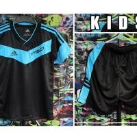 Grosir Eceran Setelan Baju Olahraga Anak Kids Adidas F50 HitamBirumuda