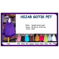 GH-jilbab hijab gotix pet, detilnya di foto