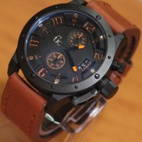 Jam Tangan GC6381 Brown Leather Kw Super