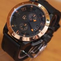 Jam Tangan GC6381 Black Gold Leather Kw Super