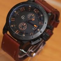 Jam Tangan GC6381 Dark Brown Leather Kw Super