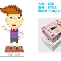 LOZ NANOBLOCK LEGO CHIBI MARUKO CHAN KAZUHIKO HANAWA 9703