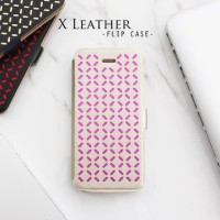 Casing HP Unik X Leather Flip Case Gold Pink Iphone 4/4s/5/5s/6