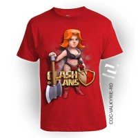 Kaos 3D Square - COC VALKYRIE RED