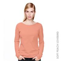 harga Kaos Wanita Lengan Panjang Women Long Sleeve (soft Peach Lovebird) Tokopedia.com