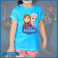 Baju Anak Frozen Sketsa Elsa+Anna | Kaos Anak Frozen Sketsa Elsa+Anna