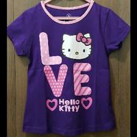 Kaos Hello Kitty Love Ungu