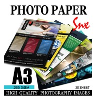 Kertas Foto A3 doff Silky for Epson| Canon|Hp|Brother