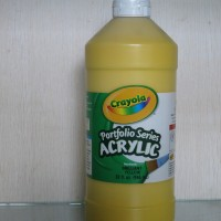 Crayola Portfolio Series Acrylic Paint Yellow 946 Ml