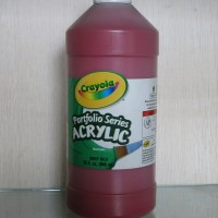 Crayola Portfolio Series Acrylic Paint Deep Red 946 Ml
