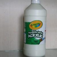 Crayola Portfolio Series Acrylic Paint Titanium White 946 Ml