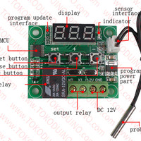 TEMPERATURE CONTROLLER / DIGITAL THERMOSTAT CONTROLLER RELAY 1CH W1209