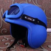 harga Helm Pilot Biru Full Kacamata Tokopedia.com