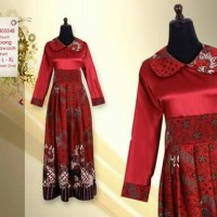gamis batik/gaun batik/long dress/busana muslim/batik jogja
